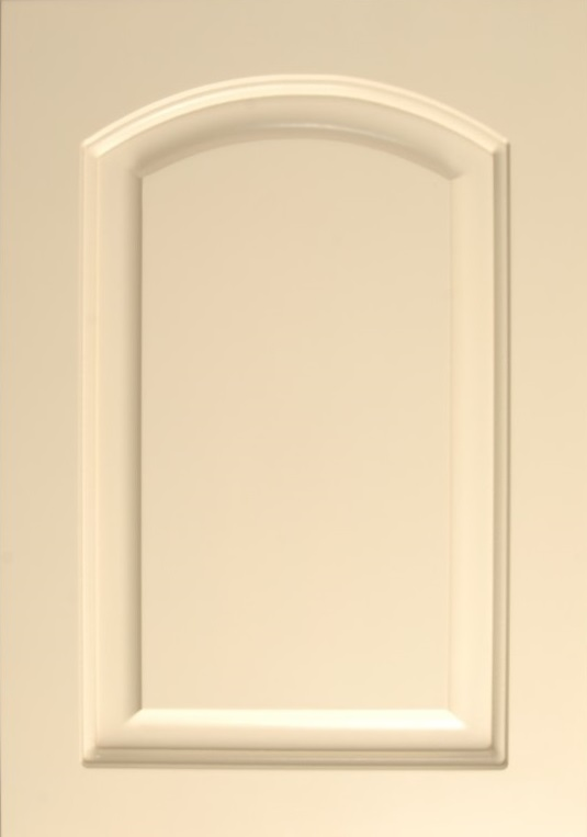 MDF with Arch and a Painted White Finish