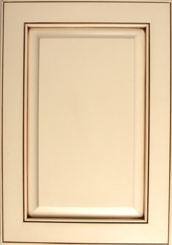 Maple Sanibel Kimble with a White Painted Finish and Vandyke Glaze