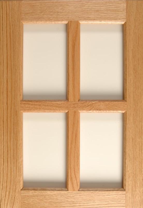 Oak 4-Lite Mullion in Natural Finish