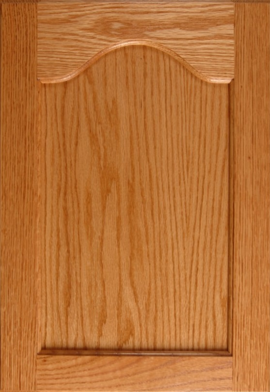 Oak Sanibel Madison with Cathedral in a Natural Finish