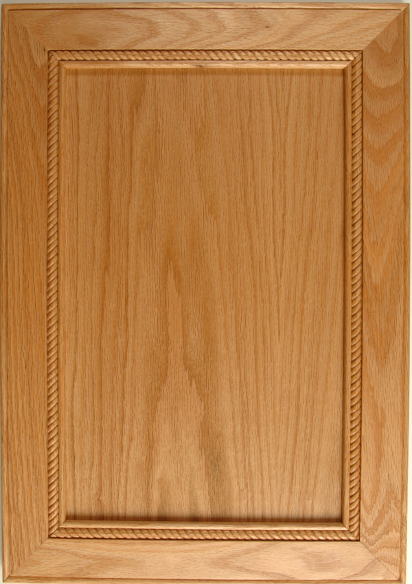 Oak Sanibel Madison with Mitered Corners and Rope Moulding in a Natural Finish