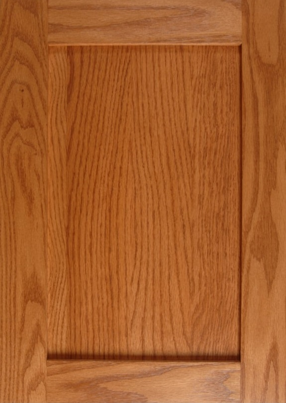 Oak Shaker without Center Stile in a Honey Finish