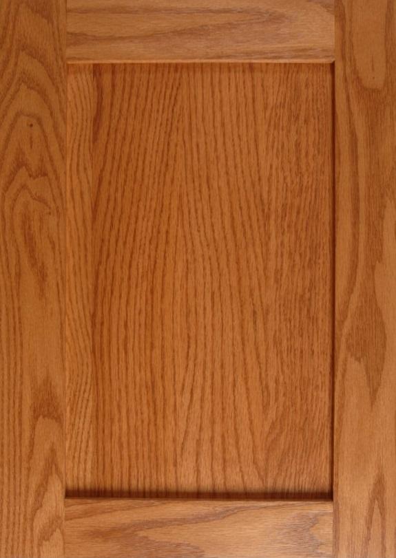 Oak Shaker without Center Stile in a Honey Finish
